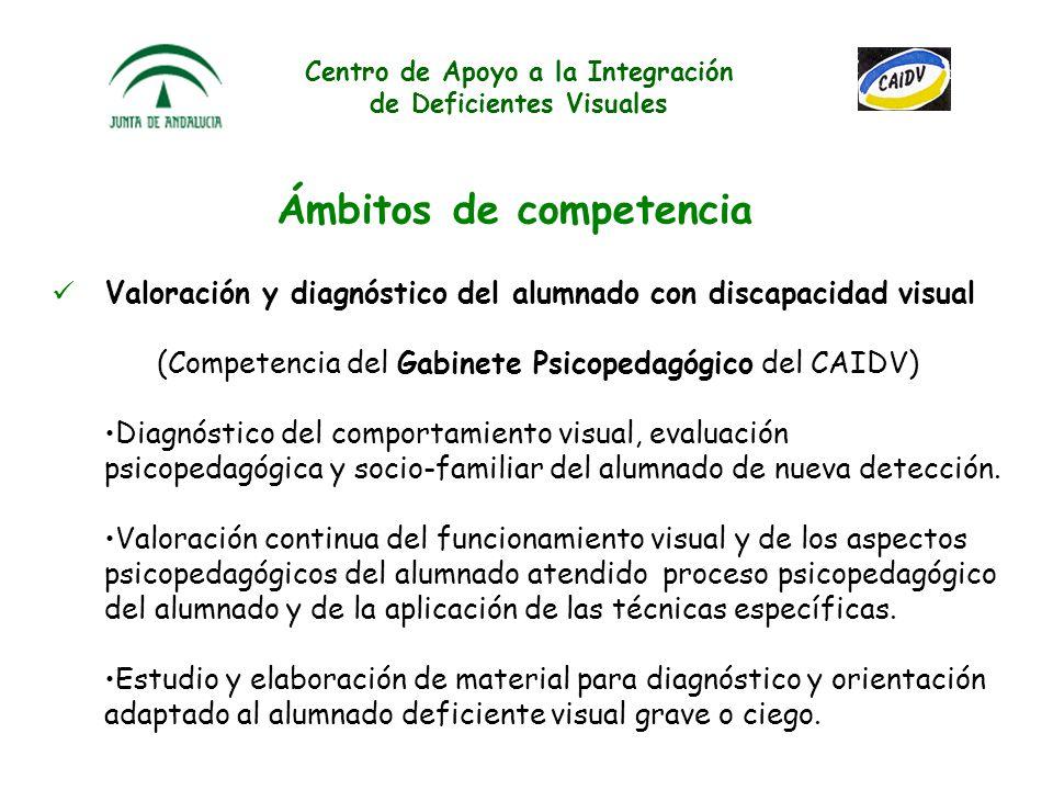 Centro de Apoyo a la Integración de Deficientes Visuales Cooperación con los programas de formación permanente del profesorado y formación inicial de