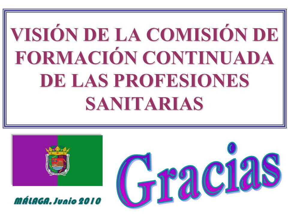 VISIÓN DE LA COMISIÓN DE FORMACIÓN CONTINUADA DE LAS PROFESIONES SANITARIAS MÁLAGA, Junio 2010
