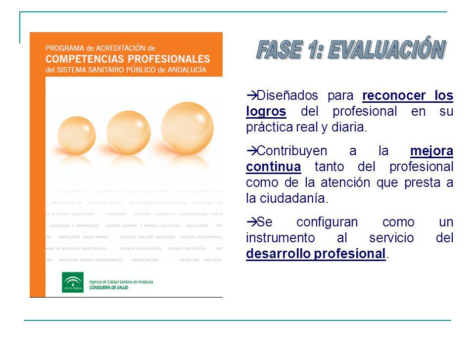 Diseñados para reconocer los logros del profesional en su práctica real y diaria. Contribuyen a la mejora continua tanto del profesional como de la at
