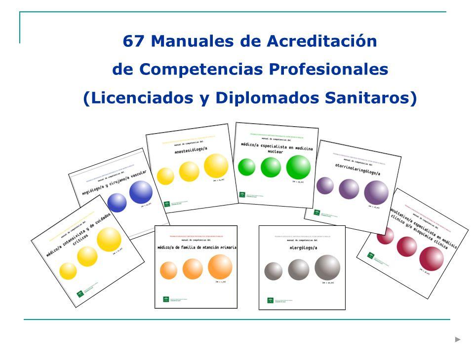67 Manuales de Acreditación de Competencias Profesionales (Licenciados y Diplomados Sanitaros)