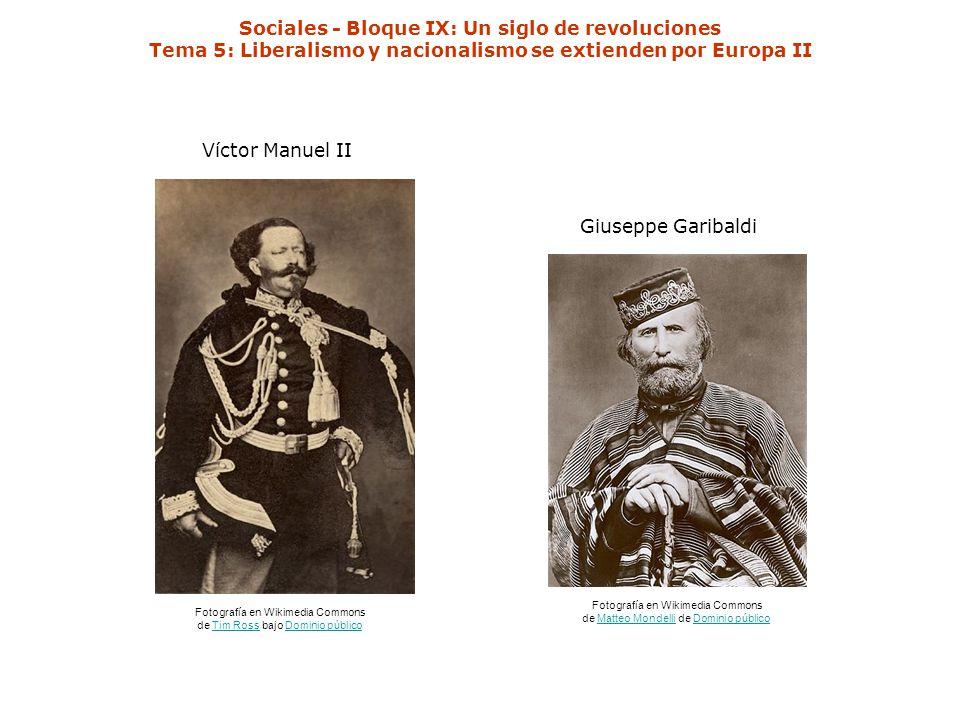 Sociales - Bloque IX: Un siglo de revoluciones Tema 5: Liberalismo y nacionalismo se extienden por Europa II Fotografía en Wikimedia Commons de Tim Ro