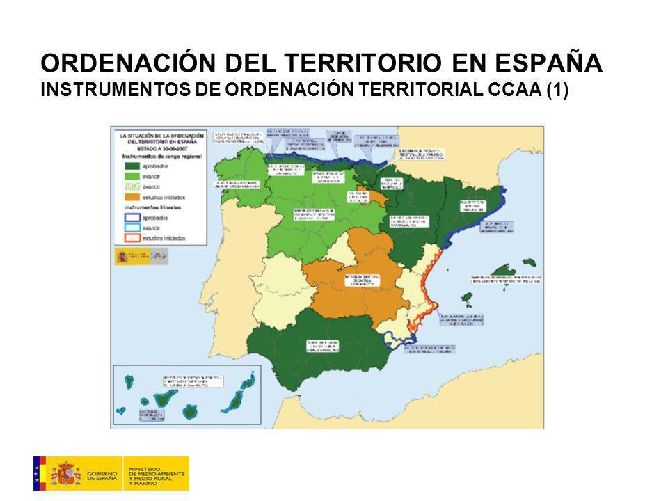 ORDENACIÓN DEL TERRITORIO EN ESPAÑA INSTRUMENTOS DE ORDENACIÓN TERRITORIAL CCAA (1)