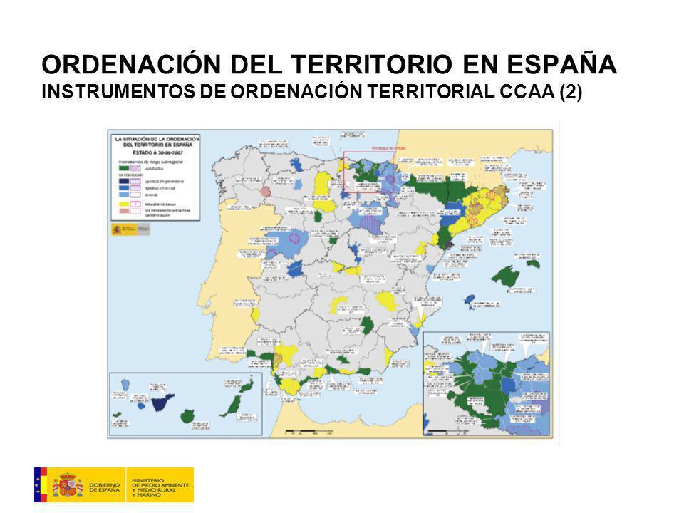 ORDENACIÓN DEL TERRITORIO EN ESPAÑA INSTRUMENTOS DE ORDENACIÓN TERRITORIAL CCAA (2)