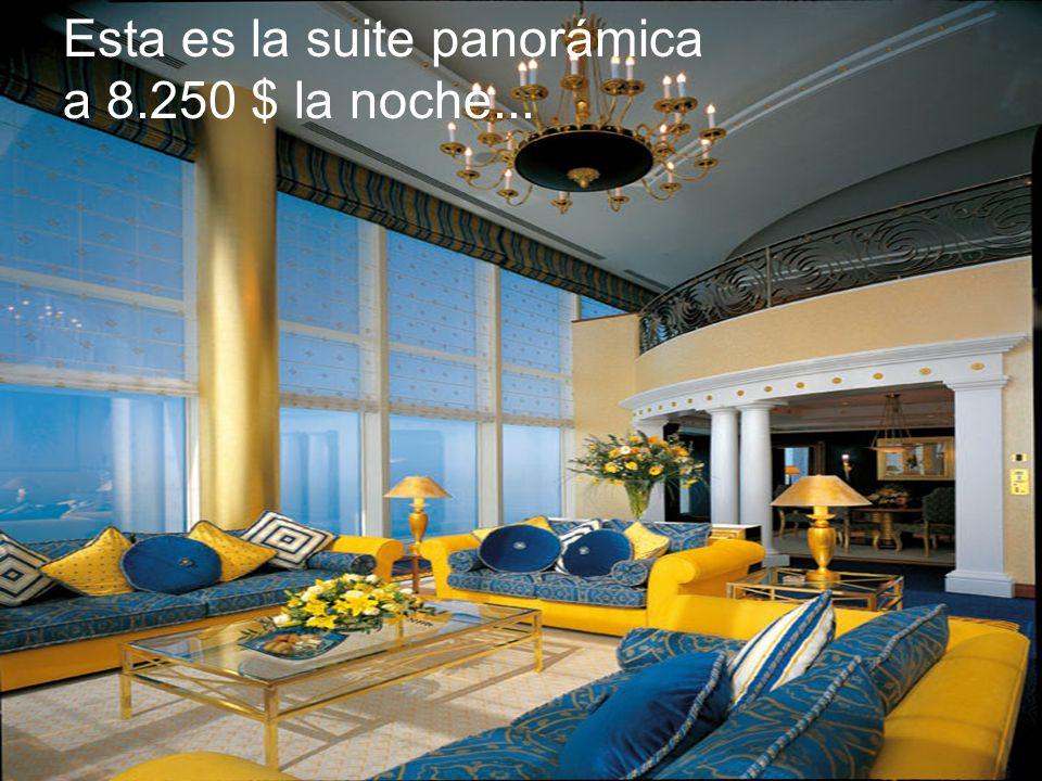 Esta es la suite panorámica a 8.250 $ la noche...