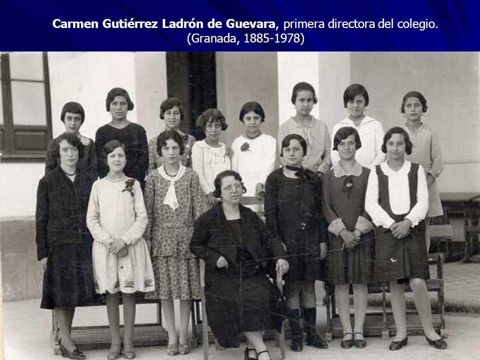 Carmen Gutiérrez Ladrón de Guevara, primera directora del colegio. (Granada, 1885-1978)