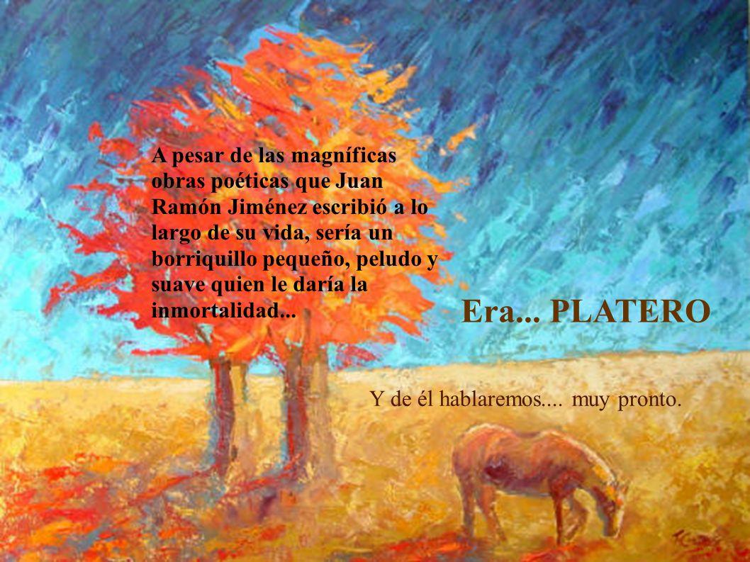 A pesar de las magníficas obras poéticas que Juan Ramón Jiménez escribió a lo largo de su vida, sería un borriquillo pequeño, peludo y suave quien le