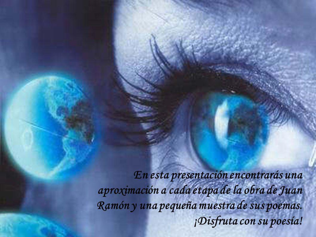 En esta presentación encontrarás una aproximación a cada etapa de la obra de Juan Ramón y una pequeña muestra de sus poemas. ¡Disfruta con su poesía!