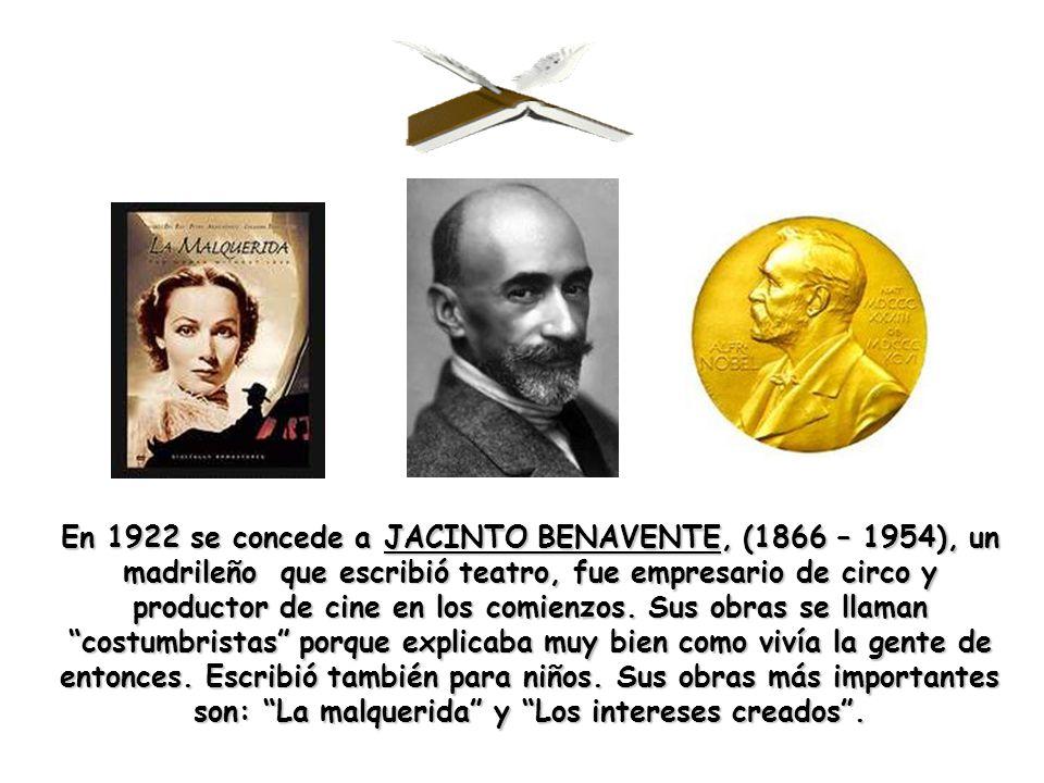 En 1956 se concede a JUAN RAMÓN JIMÉNEZ, (1881-1958), mi padre literario.