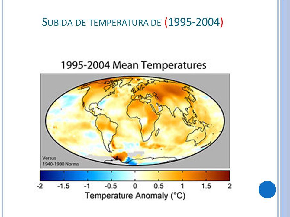 S UBIDA DE TEMPERATURA DE (1995-2004)