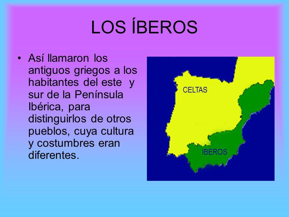 Así llamaron los antiguos griegos a los habitantes del este y sur de la Península Ibérica, para distinguirlos de otros pueblos, cuya cultura y costumb