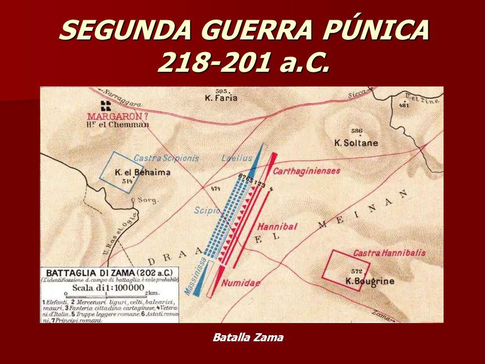 SEGUNDA GUERRA PÚNICA 218-201 a.C. Batalla Zama