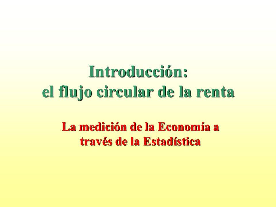 Introducción: el flujo circular de la renta La medición de la Economía a través de la Estadística