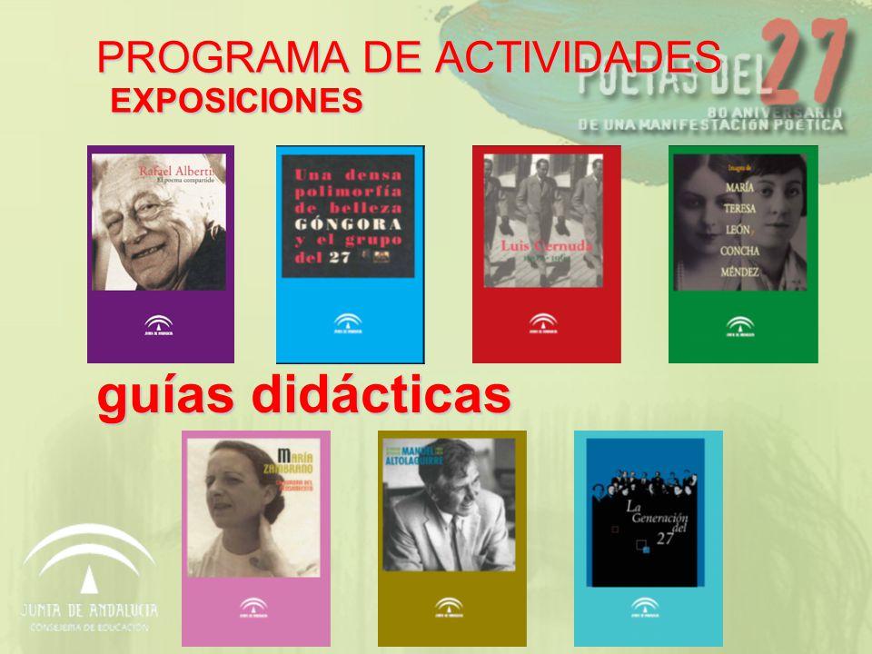 guías didácticas PROGRAMA DE ACTIVIDADES EXPOSICIONES