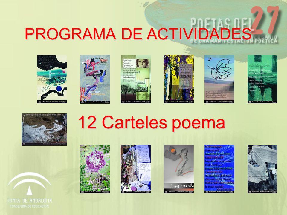Página WEB Poetas del 27 www.juntadeandalucia.es/educacion/poetasdel27 www.juntadeandalucia.es/educacion/poetasdel27 Certamen de creación Poetas del 27.