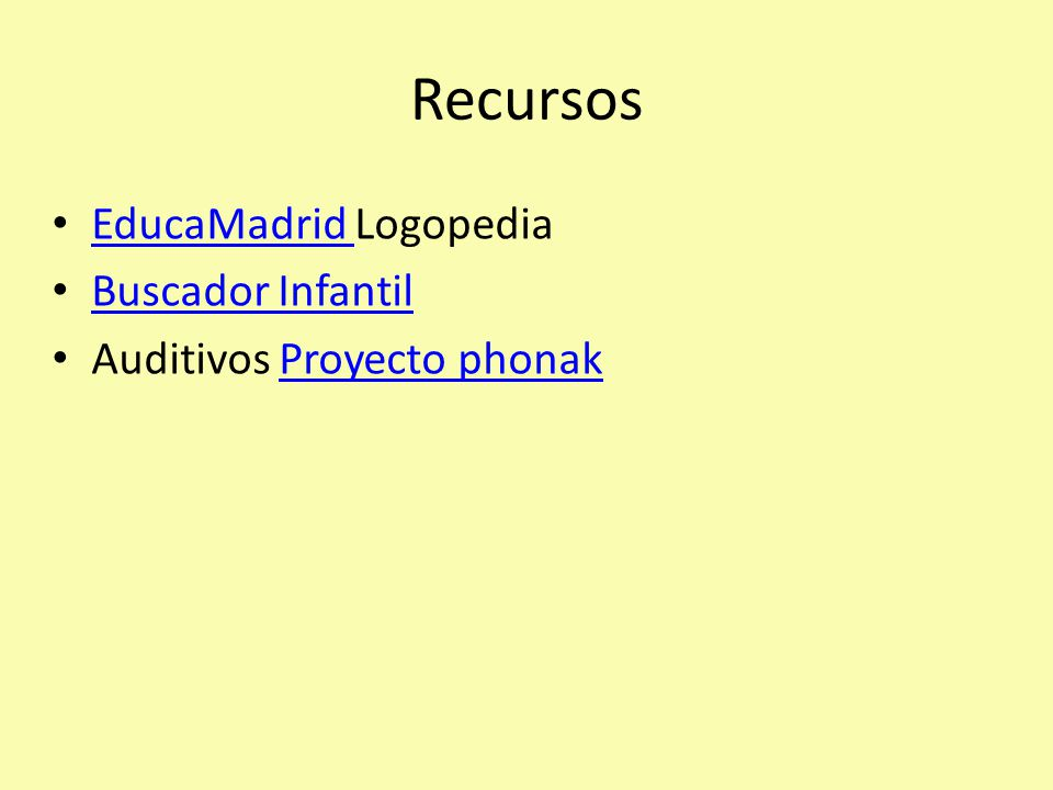 Recursos EducaMadrid Logopedia EducaMadrid Buscador Infantil Auditivos Proyecto phonakProyecto phonak