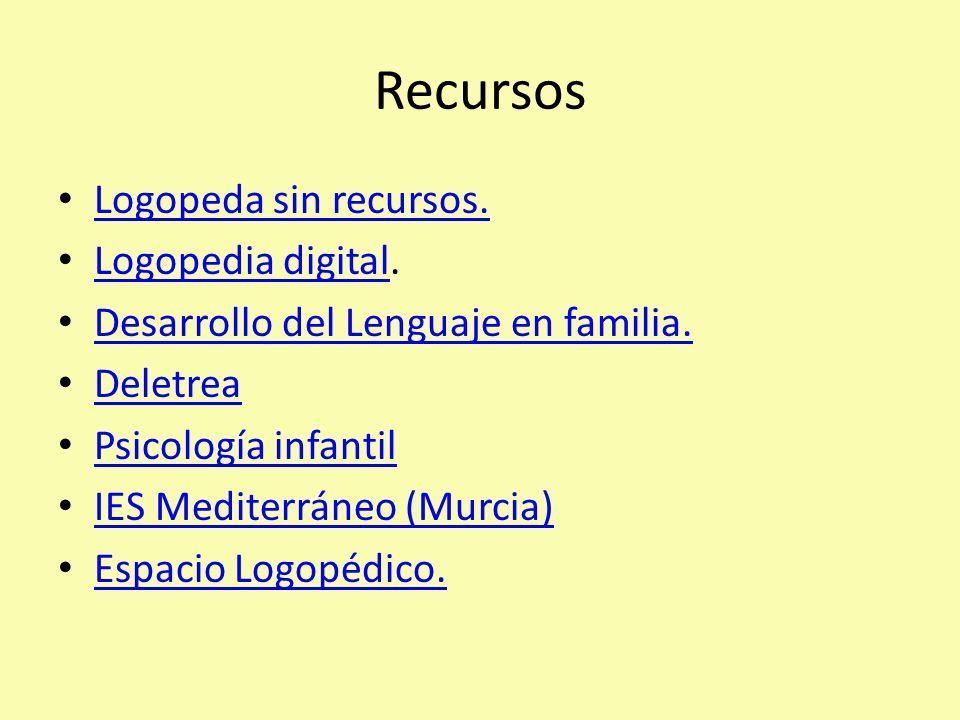 Recursos Logopeda sin recursos.Logopedia digital.