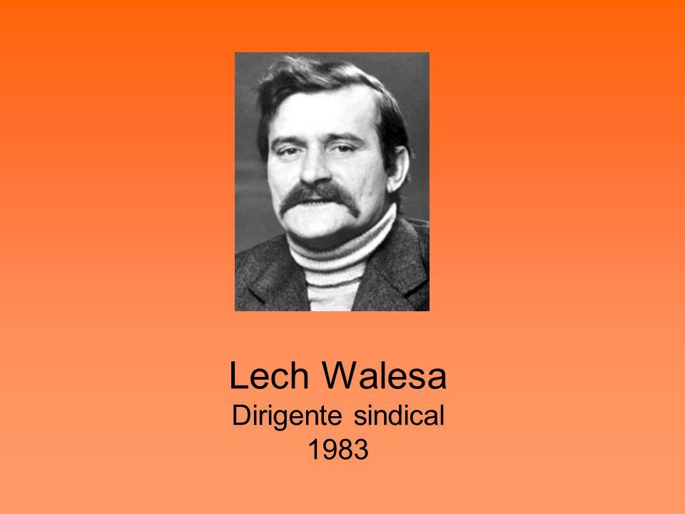 Lech Walesa Dirigente sindical 1983