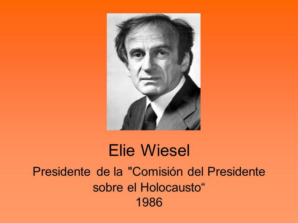 Elie Wiesel Presidente de la