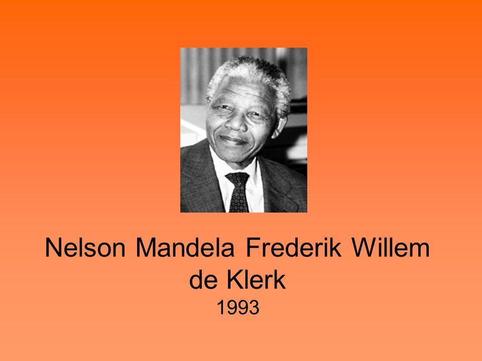 Nelson Mandela Frederik Willem de Klerk 1993