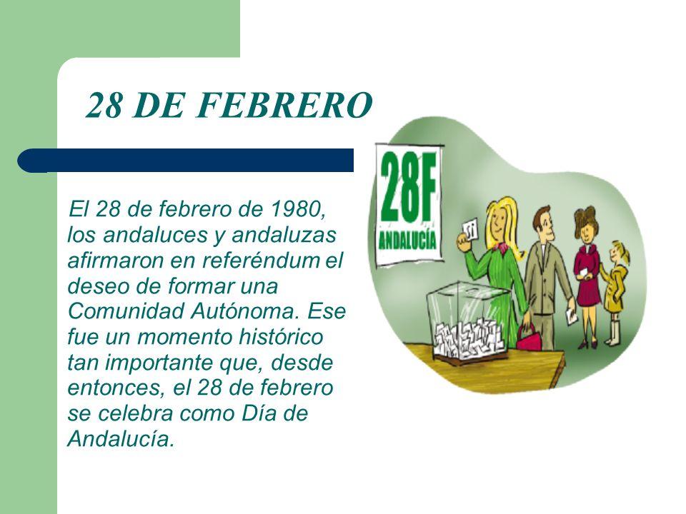El 28 de febrero de 1980, los andaluces y andaluzas afirmaron en referéndum el deseo de formar una Comunidad Autónoma. Ese fue un momento histórico ta