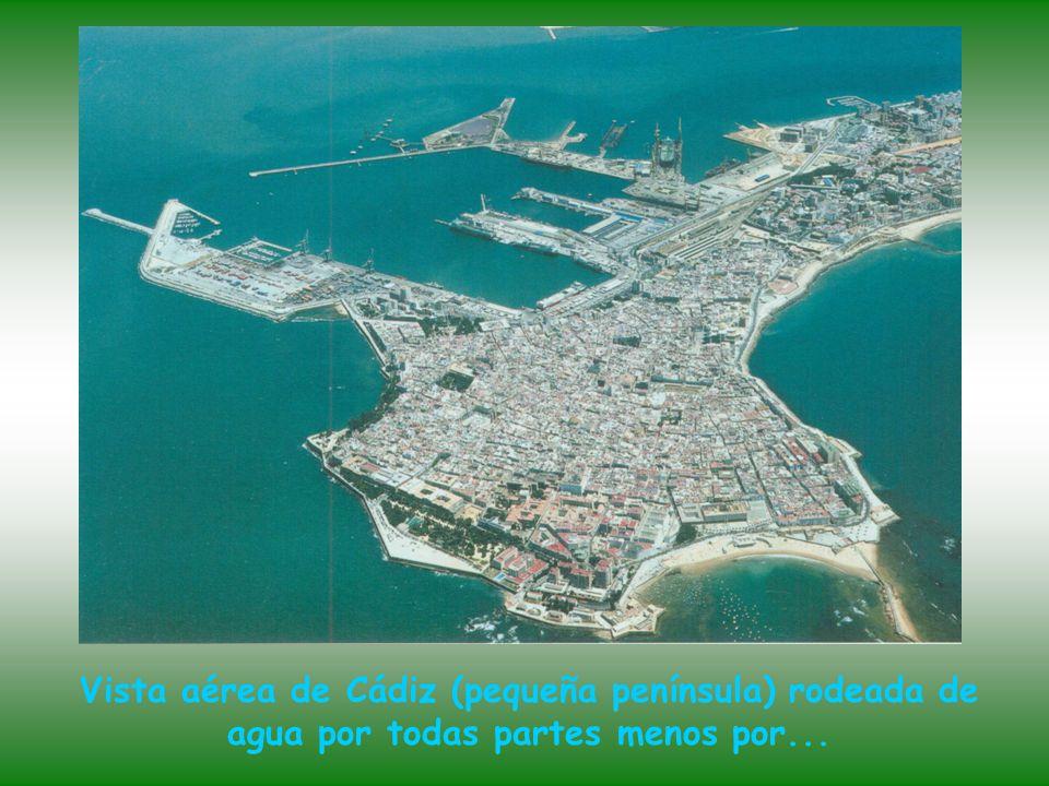 La desembocadura del río Guadalquivir en el Océano Atlántico, entre Sanlucar de Barrameda y el Parque Nacional de Doñana.