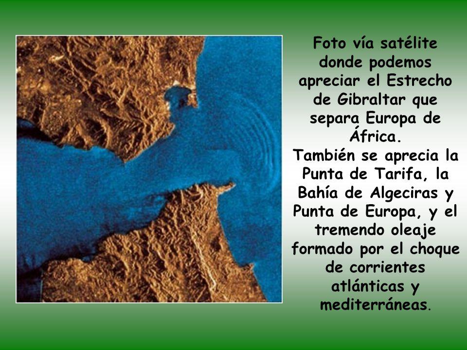 Desde aquí podemos ver Punta de Europa (Gibraltar), la Bahía de Algeciras a la derecha y África al fondo.