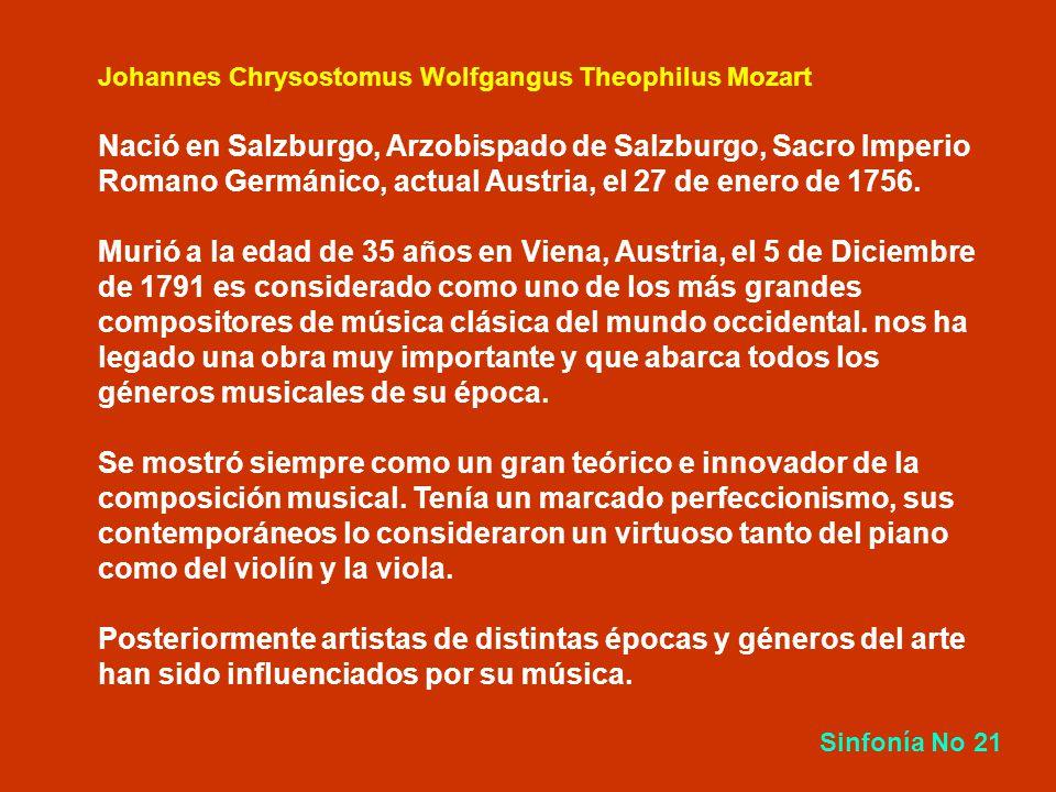 Wolfgang Amadeus Mozart 1756 – 1791