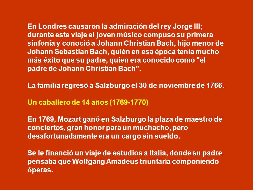 El gran viaje (1763-1766). Este gran viaje de los Mozart empezó el 9 de junio de 1763. Durante tres años y medio recorrieron las principales ciudades