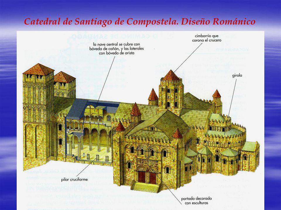 Catedral de Santiago de Compostela. Diseño Románico