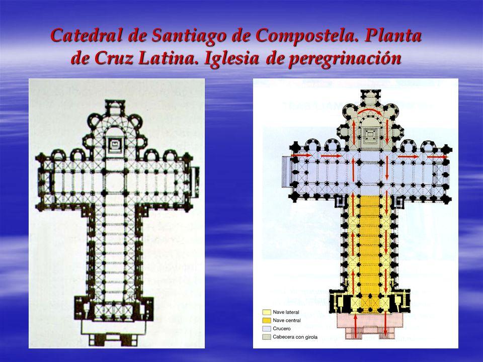 Catedral de Santiago de Compostela. Planta de Cruz Latina. Iglesia de peregrinación