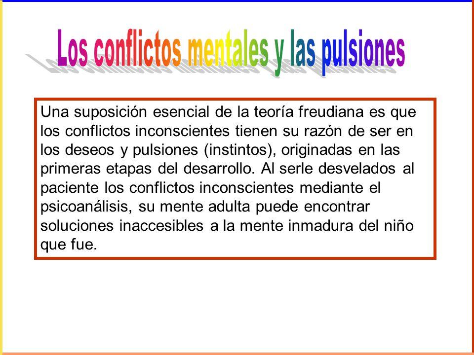 Una suposición esencial de la teoría freudiana es que los conflictos inconscientes tienen su razón de ser en los deseos y pulsiones (instintos), origi