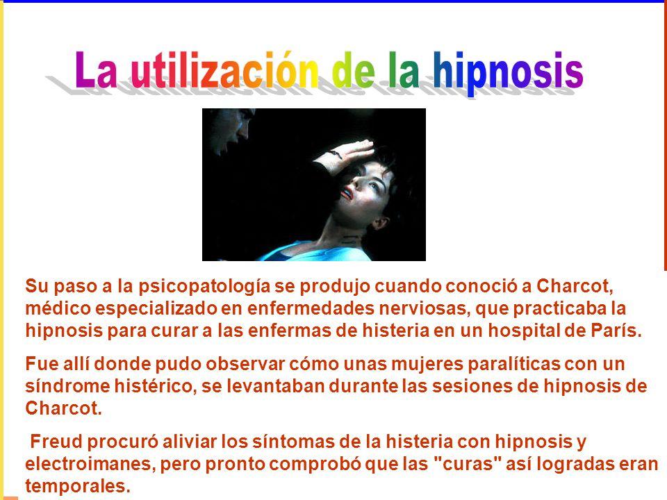 Su paso a la psicopatología se produjo cuando conoció a Charcot, médico especializado en enfermedades nerviosas, que practicaba la hipnosis para curar