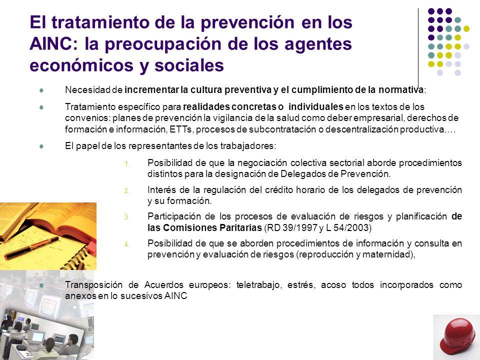 La Estrategia española de seguridad y salud en el trabajo 2007 – 2012: objetivo 3 fortalecer el papel de interlocutores sociales, empresarios y trabajadores en la mejora de la seguridad y salud en el trabajo El tratamiento de ciertas materias debe ser abordado por Organizaciones Sindicales y Empresariales mediante la Negociación Colectiva Sectorial o en el marco del diálogo social tripartito de ámbito territorial.