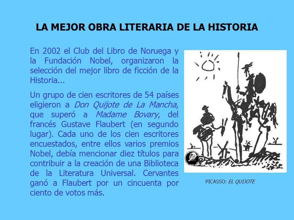 En 2002 el Club del Libro de Noruega y la Fundación Nobel, organizaron la selección del mejor libro de ficción de la Historia...