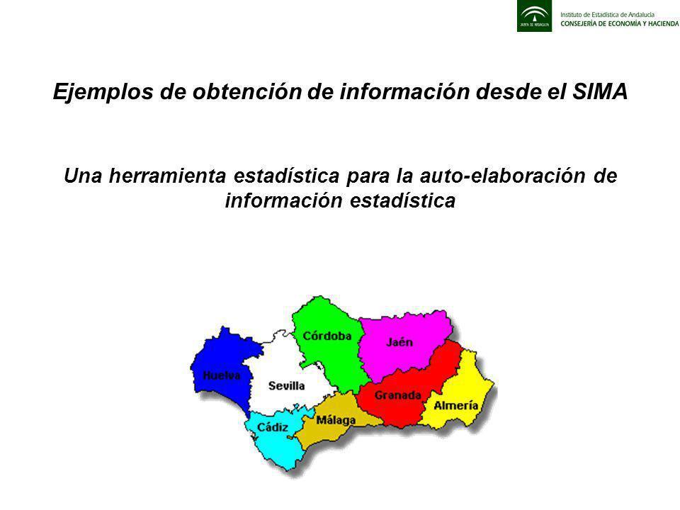 Ejemplos de obtención de información desde el SIMA Una herramienta estadística para la auto-elaboración de información estadística