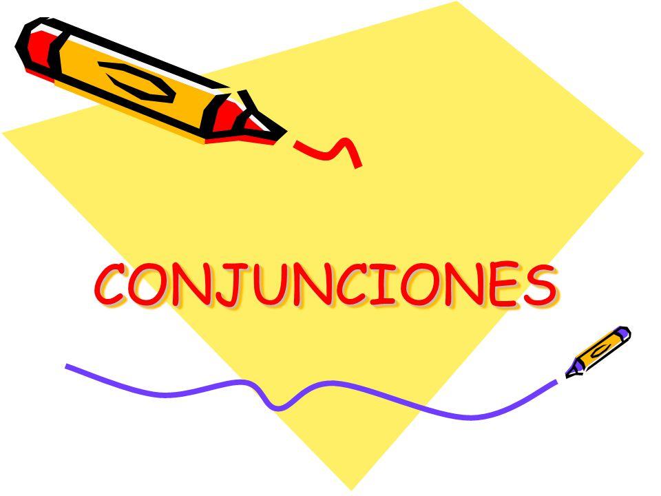 Las conjunciones son los elementos invariables de la lengua capaces de enlazar oraciones creando distintas relaciones entre ellas.