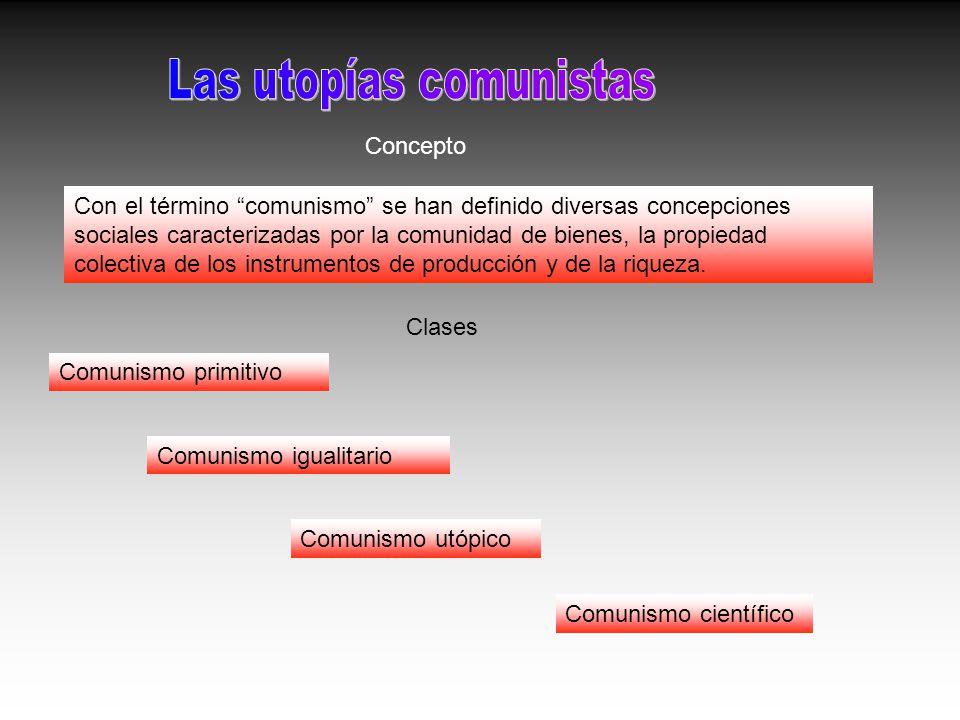 Con el término comunismo se han definido diversas concepciones sociales caracterizadas por la comunidad de bienes, la propiedad colectiva de los instr