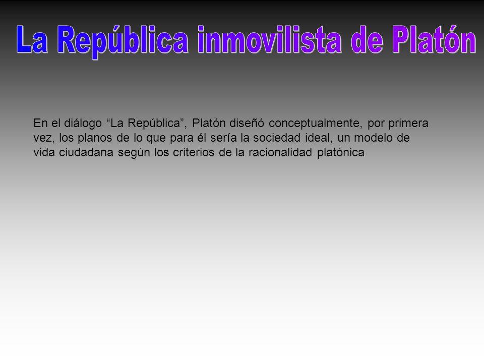 En el diálogo La República, Platón diseñó conceptualmente, por primera vez, los planos de lo que para él sería la sociedad ideal, un modelo de vida ci