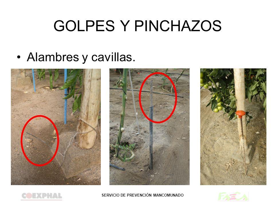SERVICIO DE PREVENCIÓN MANCOMUNADO GOLPES Y PINCHAZOS Alambres y cavillas.