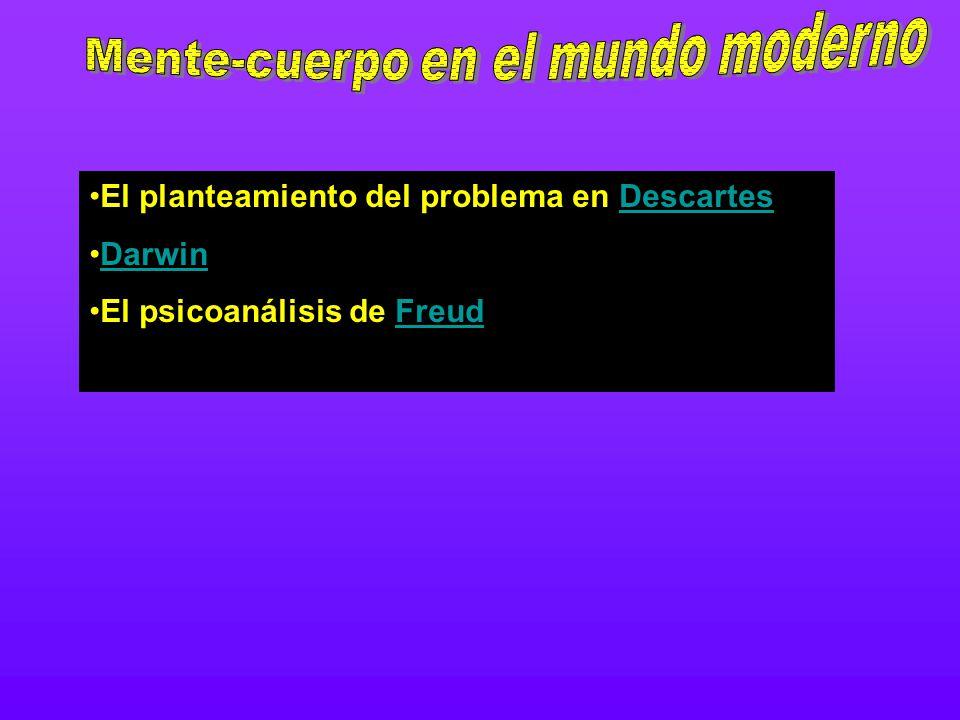 El planteamiento del problema en DescartesDescartes Darwin El psicoanálisis de FreudFreud