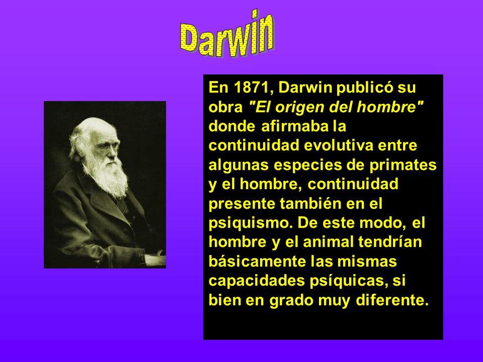 En 1871, Darwin publicó su obra