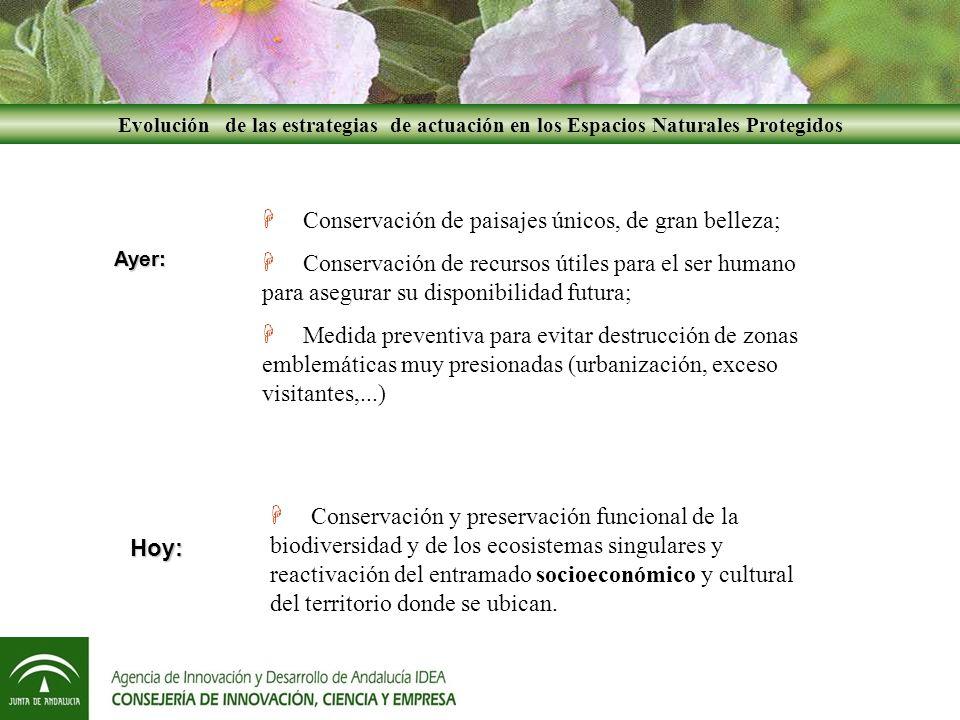 Metodología PDS Metodología PDS Coordinación efectiva de los recursos económicos y humanos de la Junta de Andalucía sobre un territorio (Parque Natural y su A.I.S.).