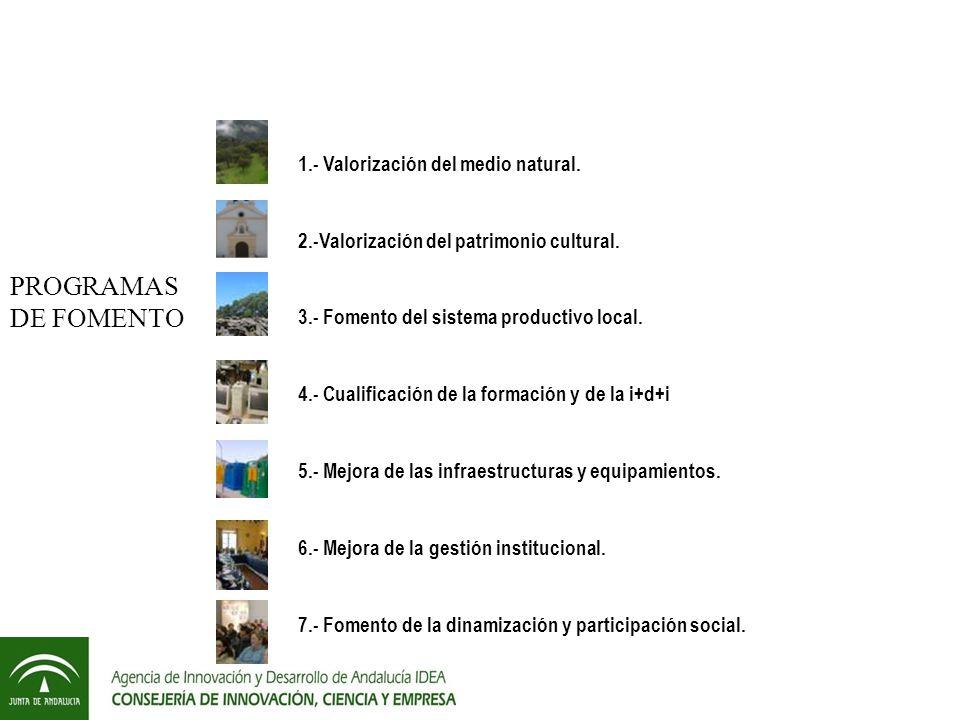 1.- Valorización del medio natural.2.-Valorización del patrimonio cultural.