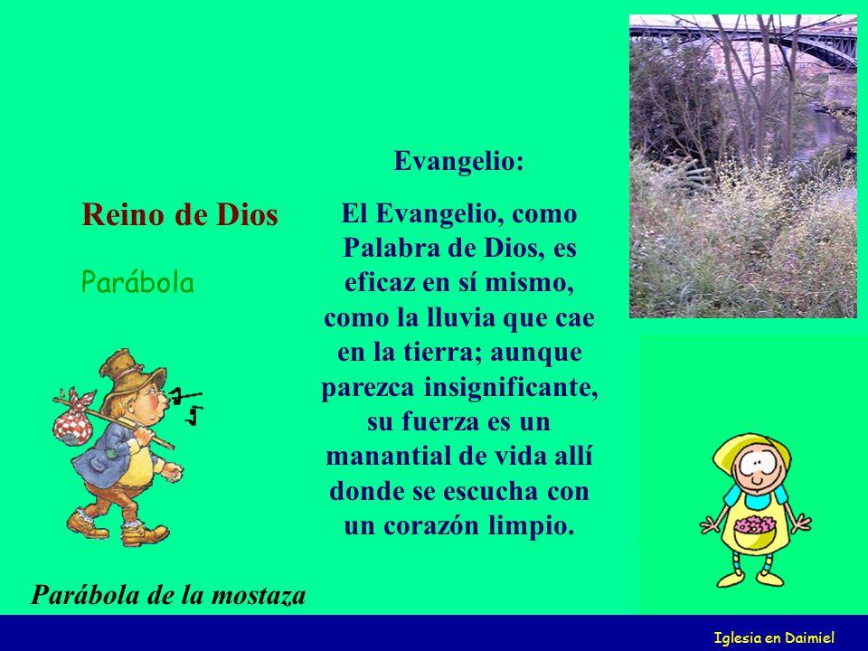 Iglesia en Daimiel Evangelio: El Evangelio, como Palabra de Dios, es eficaz en sí mismo, como la lluvia que cae en la tierra; aunque parezca insignificante, su fuerza es un manantial de vida allí donde se escucha con un corazón limpio.