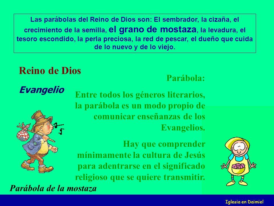 Iglesia en Daimiel Parábola: Entre todos los géneros literarios, la parábola es un modo propio de comunicar enseñanzas de los Evangelios.