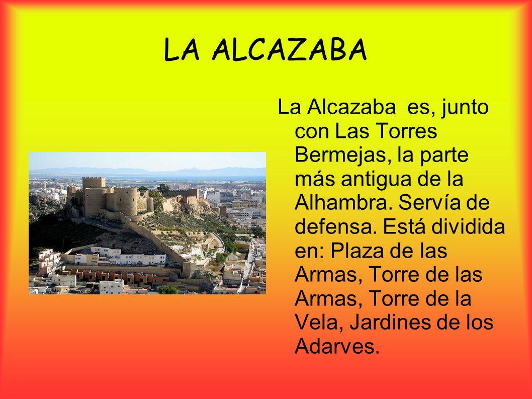 La Alcazaba es, junto con Las Torres Bermejas, la parte más antigua de la Alhambra. Servía de defensa. Está dividida en: Plaza de las Armas, Torre de