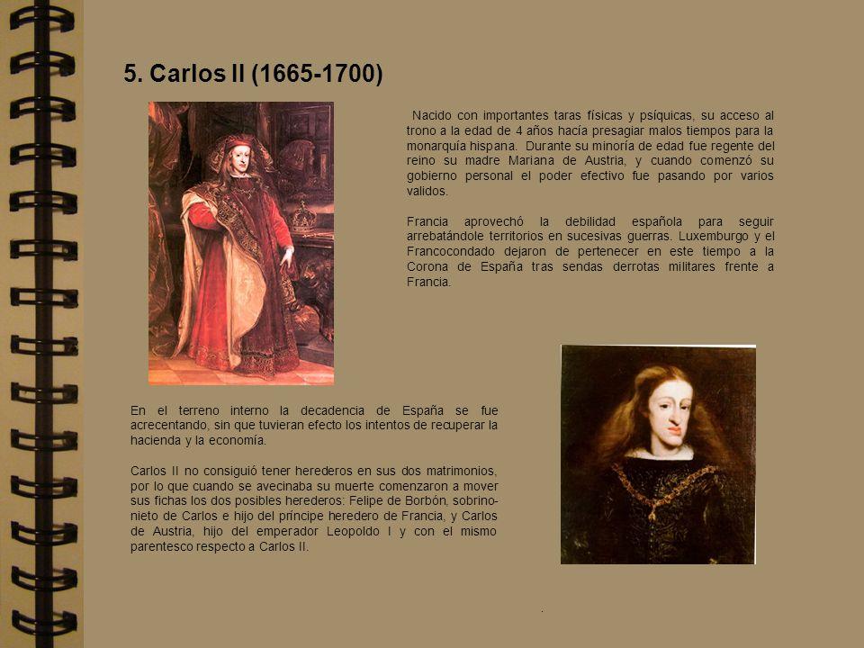 Nacido con importantes taras físicas y psíquicas, su acceso al trono a la edad de 4 años hacía presagiar malos tiempos para la monarquía hispana. Dura