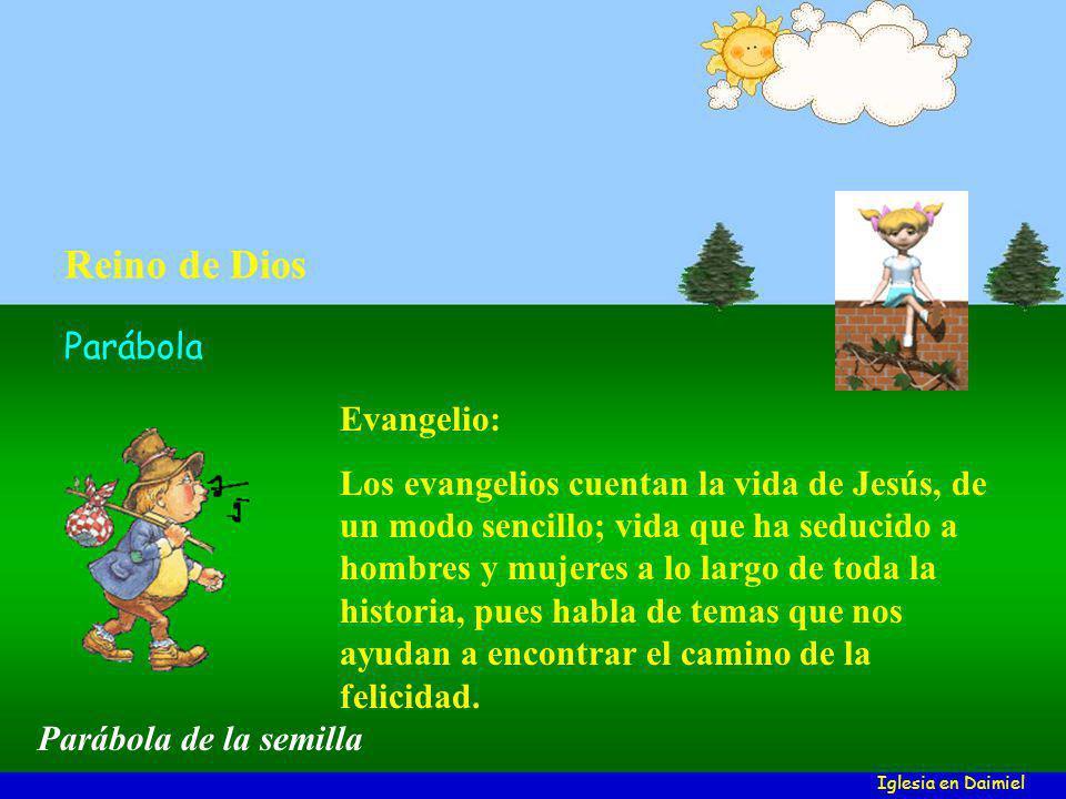 Evangelio: Los evangelios cuentan la vida de Jesús, de un modo sencillo; vida que ha seducido a hombres y mujeres a lo largo de toda la historia, pues habla de temas que nos ayudan a encontrar el camino de la felicidad.