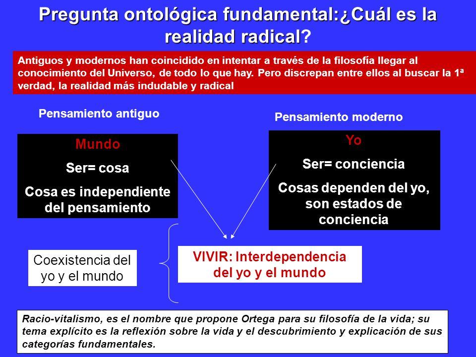 Pregunta ontológica fundamental:¿Cuál es la realidad radical Pregunta ontológica fundamental:¿Cuál es la realidad radical.