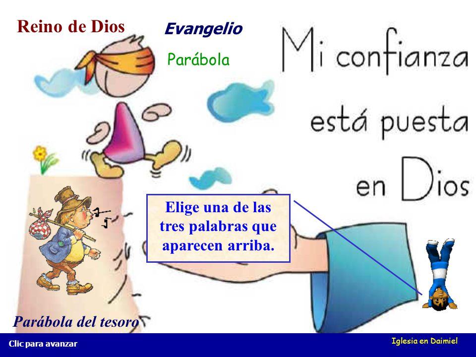 Iglesia en Daimiel Parábolas del Reino de Dios Parábolas del Reino de Dios Clic para avanzar Por ejemplo: enumera las cosas que más valoras. ¿No tendr